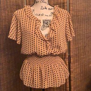 Women's Blouse Short Sleeve, Polka Dots